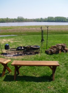 fire pits can be a great place to socialize when camping