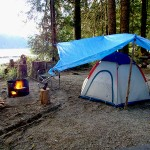 tent camping at cougar creek
