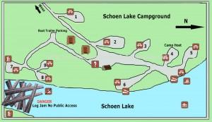 Schoen Lake Provincial Park Map