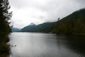Woss Lake Campground on vancouver island