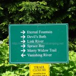 Merry widow trail sign to kathleen lake from vancouver island camping